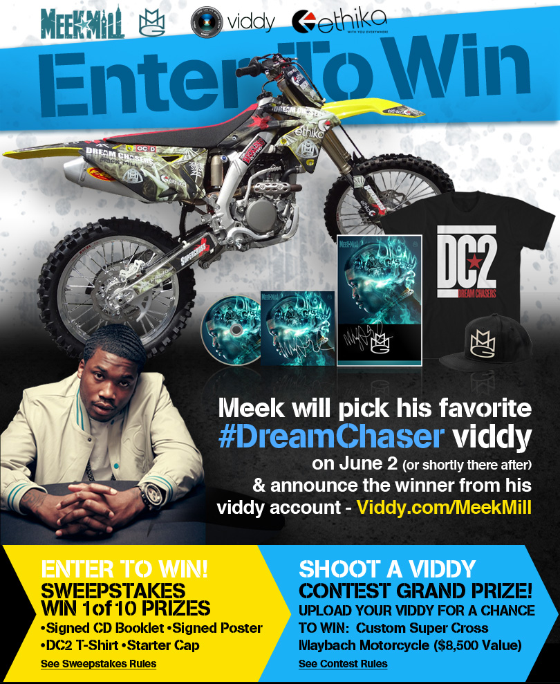 Meek Mill x Viddy Is Giving Away His Own 2012 Dreamchasers Dirt Bike (CONTEST DETAILS INSIDE)