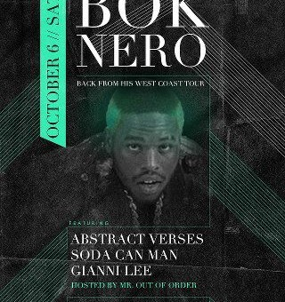 BLONDEGANG and Sedso Design presents BOK NERO (Back from his West Coast Tour)