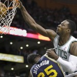 Celtics' Jeff Green Posterizes Utah Jazz Al Jefferson (Video)