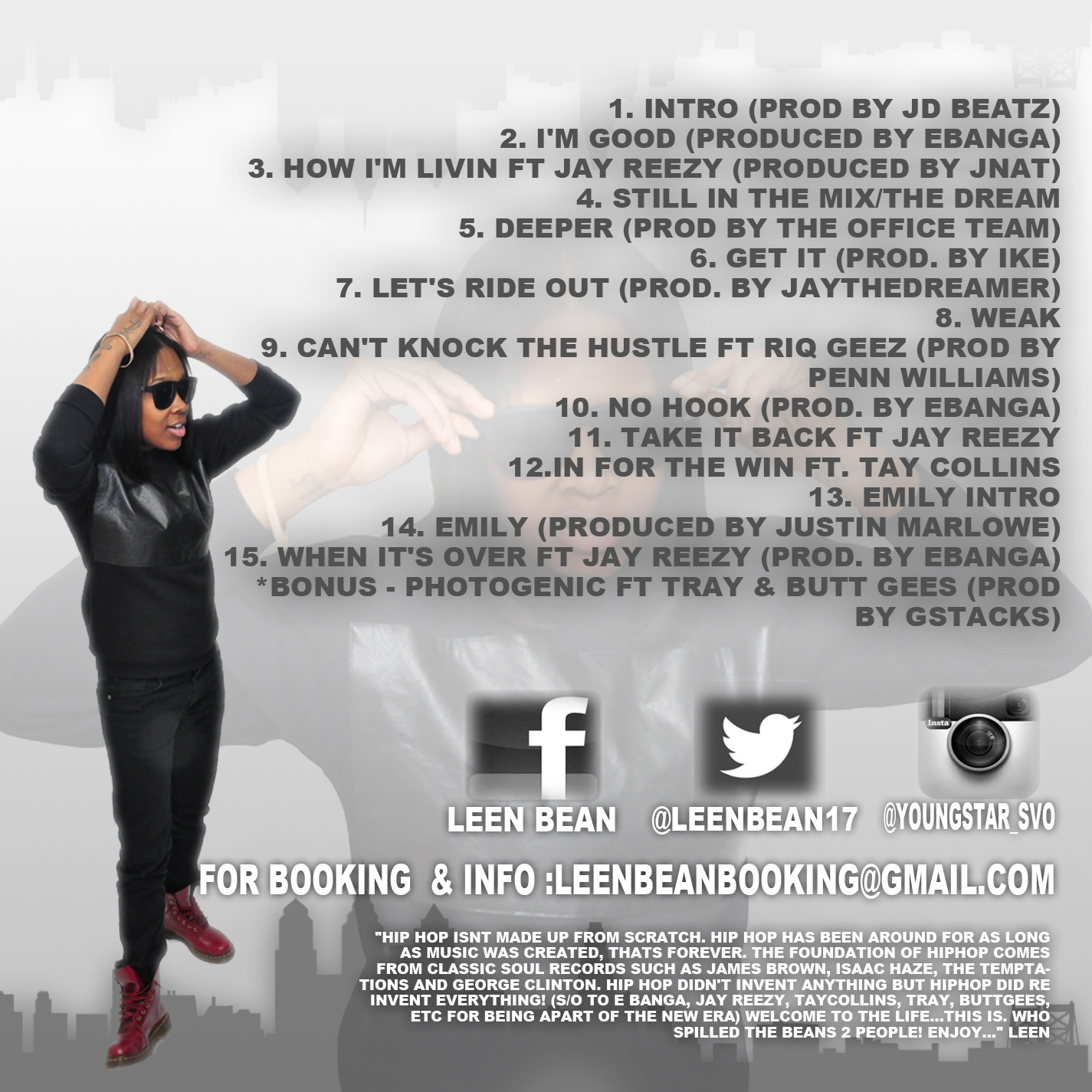 leen bean spilled beans 2 mixtape HHS1987 2013 tracklist Leen Bean   Who Spilled The Beans 2 (Mixtape)