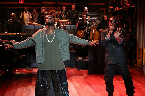 Kanye Fallon Kanye West & Charlie Wilson – Bound 2 Live w/ The Roots On Jimmy Fallon (Video)