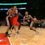 San Antonio Spurs Guard Tony Parker Shakes Up Knicks Defender Iman Shumpert (Video)