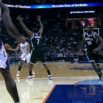 Charlotte Bobcats Big Man Bismack Biyombo Dunks on Kevin Garnett (Video)