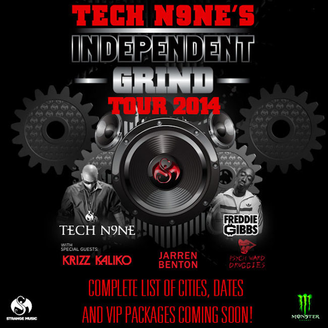 950 1390425392 techn9netour 650 56 Freddie Gibbs Set To Join Tech N9ne For His Independent Grind Tour