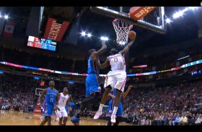 Fear The Beard: James Harden Posterizes OKC Defensive Star Serge Ibaka (Video)