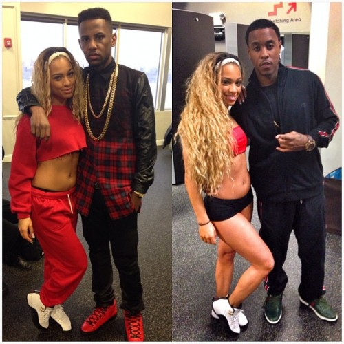 "Fab & Jeremih on set of ""Thim Slick"""