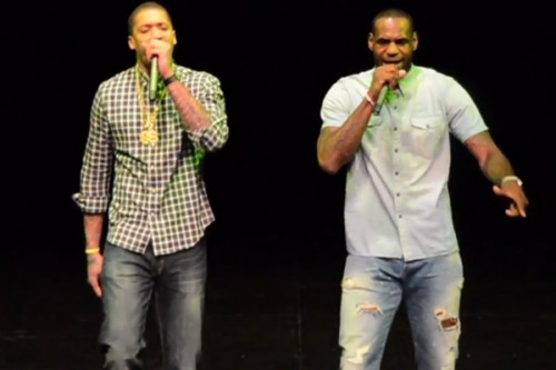 Heatles World Tour: Lebron James & Michael Beasley Perform Back That A$$ Up at the Battioke Charity Event (Video)