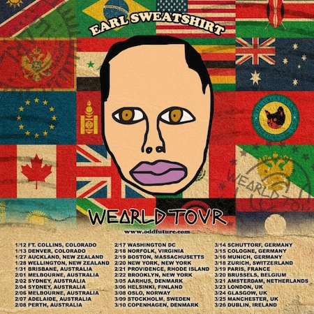earlsweatshirt Earl Sweatshirt Announces Wearld Tour & Dates (2014)