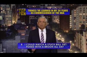 NBA Commissioner David Stern Tells Us the Top 10 Things He Learned on The Late Show with David Letterman (Video)