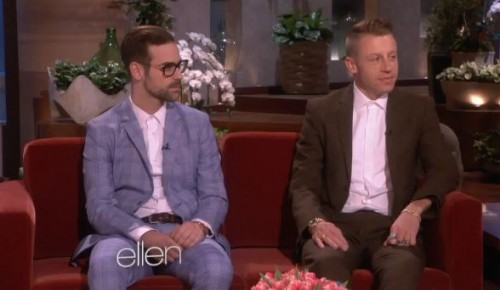 macklemore ellen 500x290 Macklemore & Ryan Lewis On The Ellen Show (Video)