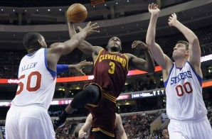Dion Waiters Introduces himself to Spencer Hawes with a Nasty Dunk (Video)