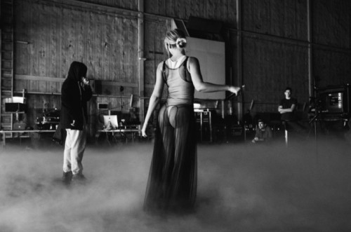 Beyonce rehearsing for her Grammy performance