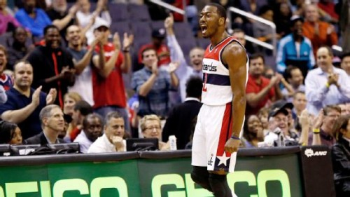 nba u walljx769 576x324 500x281 Washington Wizards All Star John Wall Forces Double OT against the San Antonio Spurs (Video)