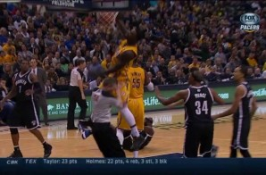 Lance Stephenson Posterizes An NBA Ref (Video)