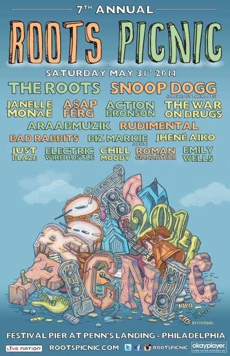 6ySxtRU Roots Picnic 2014 Lineup Revealed