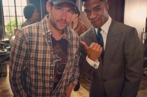 Kid Cudi On The Set of Entourage Movie
