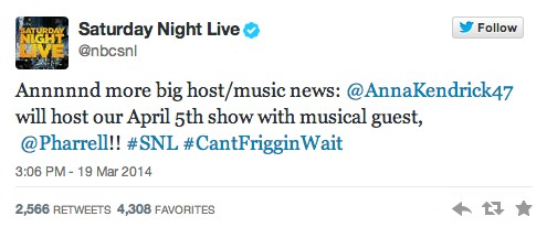 Pharrell Saturday Night Live 1 Pharrell To Be Musical Guest On SNL