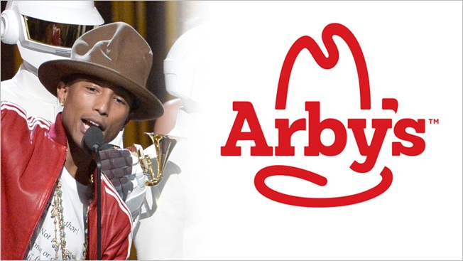 arbys pharell hed 2014 Pharrells Vivienne Westwood Hat Brought By Arbys For His One Hand To AnOTHER Organaztion