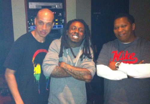 Lil Wayne Mannie Fresh In The Studio Together  Lil Wayne & Mannie Fresh In The Studio Together (Photo)
