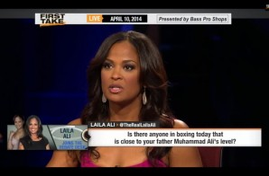Laila Ali Speaks on Greatness of Muhammad Ali on ESPN First Take (Video)