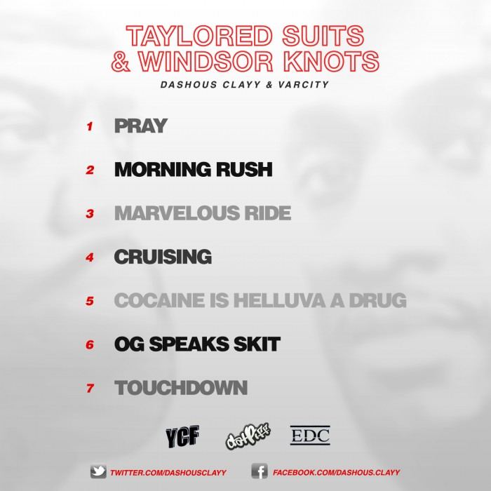 back 1C ps 1 Dashous Clayy x VarCity   Taylored Suits And Windsor Knot (Mixtape)
