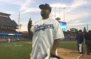 It Was a Good Day: Ice Cube Throws Opening Pitch at Dodgers Stadium (Video)