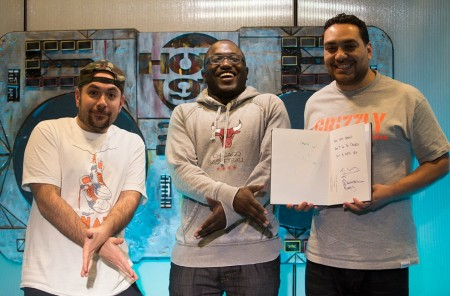 hannibal juan 450x296 Hannibal Buress Joins The Juan Epstein Gang For A One Of A Kind Rap Chat (Video)