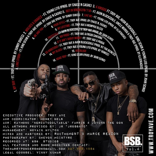 BSB Volume 4 Tracklist Troy Ave & BSB   BSB Volume 4 (Mixtape)