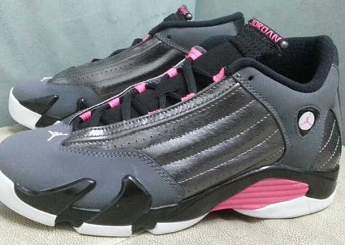 air jordan 14 gs grey pink 2 500x355 Air Jordan 14 GS Grey & Pink (Photos)