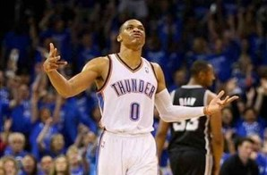Thunder Up: Russell Westbrook's Deep Bomb Beats the Halftime Buzzer (Video)
