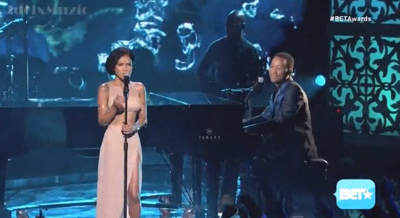 "BrVx410CEAAL7qc 1 John Legend & Jhene Aiko Perform ""You & I"" & ""The Worst"" At The 2014 BET Awards (Video)"