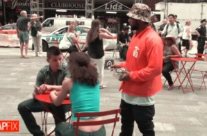 ScHoolboy Q Sells His Album In Times Square (Video)