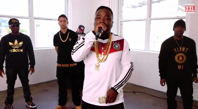 benton bibby troy connor 630x347 1 Jarren Benton, Lil Bibby, Jon Connor & Troy Ave   XXL Freshmen 2014 Freestyle (Video)