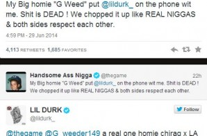 Game & Lil Durk Call A Truce With Some Help From G Weed