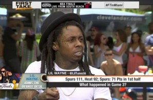 Lil Wayne on ESPN's First Take To Talk NBA Finals (Video)