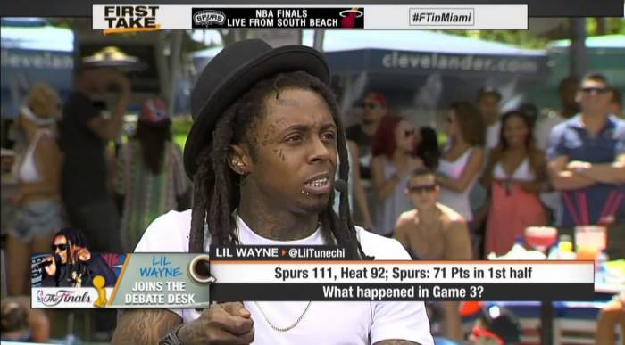 lil wayne on espns first take to talk nba finals