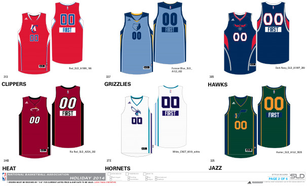 christmas2 1 NBA 2014 Christmas Jerseys Unveiled (Photos)