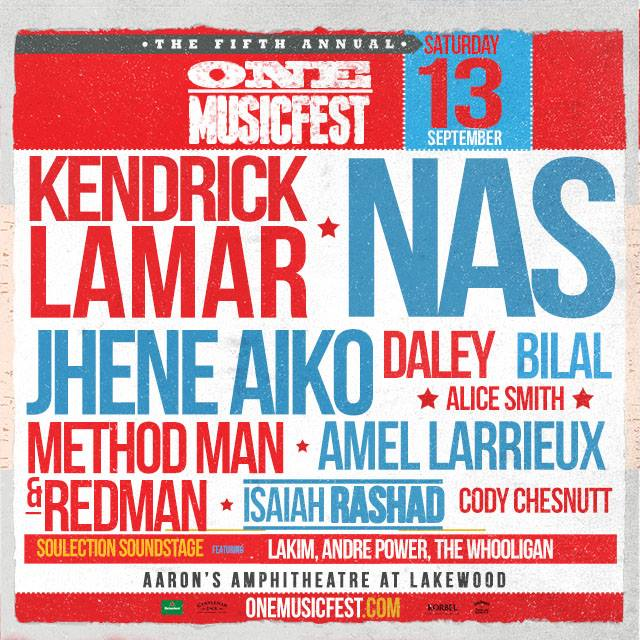 10584053 950757364949927 5402184204632586462 n Hip Hop Lovers Await The Fifth Year Anniversary Of One Music Fest In Atlanta Featuring Nas, Kendrick Lamar & More