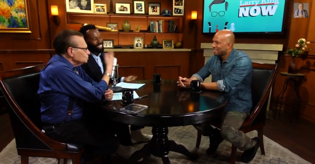 Screen Shot 2014 08 14 at 1.47.38 AM 630x329 1 Watch Common Talk Nobodys Smiling & More w/ Larry King Live!