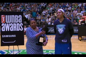 Maya Moore Accepts Her First WNBA MVP Award In Front Of H