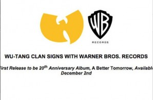 The Legendary Wu-Tang Clan Signed To Warner Bros. Records (Video)
