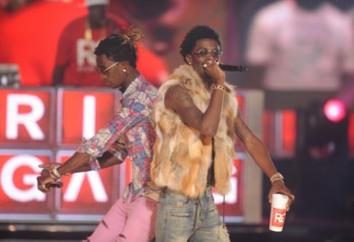 Rich gang s own young thug rich homie quan and birdman come