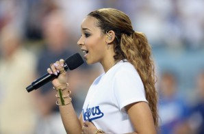 Tinashe Perfoms The National Anthem At Game 2 Of The MLB NLDS (Video)
