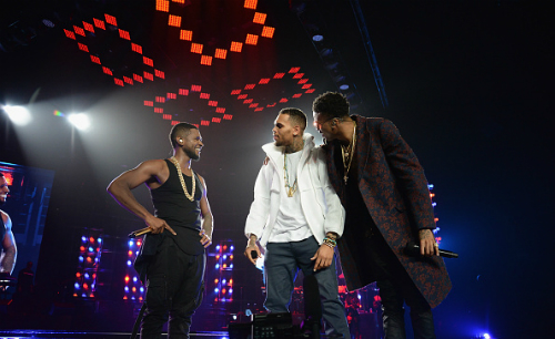 August Alsina, Chris Brown, Jeremih, & Kid Ink Join Usher On Stage In L.A. (Video)