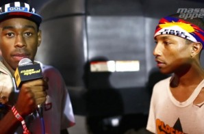 Tyler, The Creator Interviews Pharrell At Camp Flog Gnaw (Video)