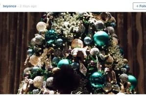 The Knowles-Carter Family Puts Up Their Blue Ivy Inspired Chirstmas Tree!
