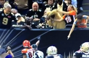 My Ball!: Saints Fan Rips Ball Away from Bengals Fan Who Had It Thrown to Her (Video)