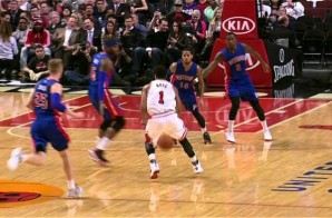 Derrick Rose Crosses Over Josh Smith & Hits Pau Gasol With A Nice Assist (Video)
