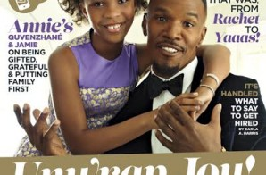 "The Stars Of The Upcoming Film ""Annie"" Jamie Foxx & Quvenzhane Wallis Cover Essence Magazine (Photo)"