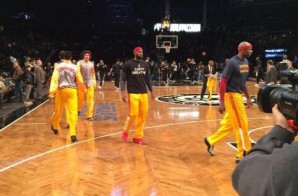 "Lebron James & Kyrie Irving Wear ""I Cant Breathe"" Shirts Showing Support For Eric Garner In Brooklyn (Photos)"